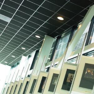Rockfon® Industrial™ Black — черные потолки