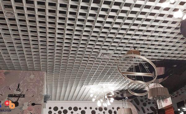Грильято/Реечный потолок в магазинах/салонах/кафе